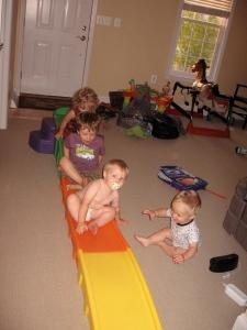 Eleni (2.5 years-ish), Oliver (3.5 years), Callum (20 months), Rhys (1 year) - 2009